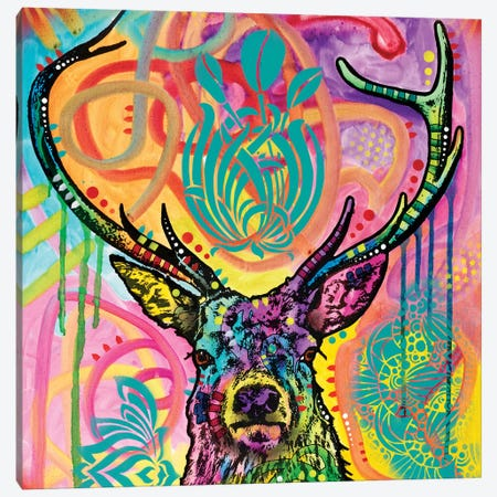 Stag Canvas Print #DRO529} by Dean Russo Canvas Wall Art