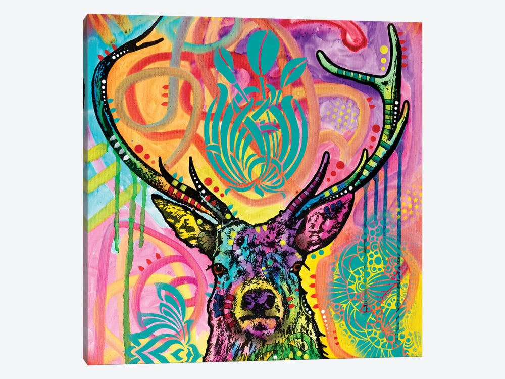Stag by Dean Russo 1-piece Canvas Wall Art
