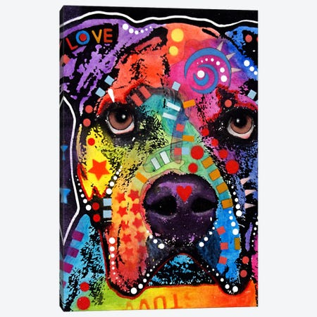 American Bulldog II Canvas Print #DRO52} by Dean Russo Canvas Art Print