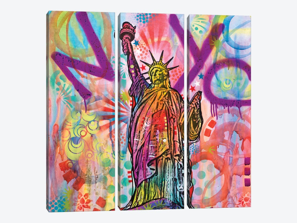 Statue Of Liberty by Dean Russo 3-piece Canvas Print