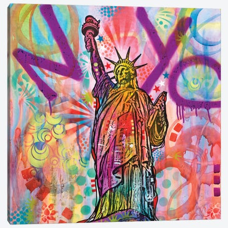 Statue Of Liberty Canvas Print #DRO531} by Dean Russo Canvas Art Print