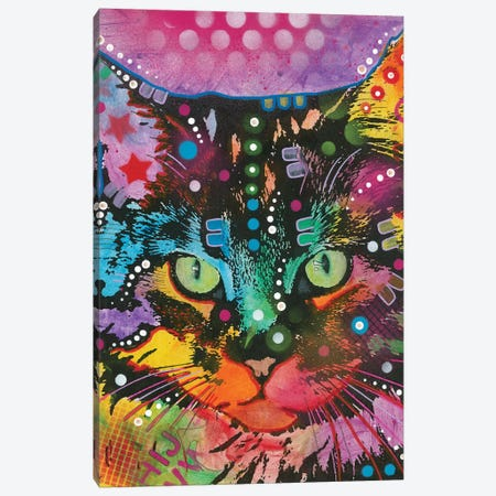Tabby II Canvas Print #DRO535} by Dean Russo Canvas Art