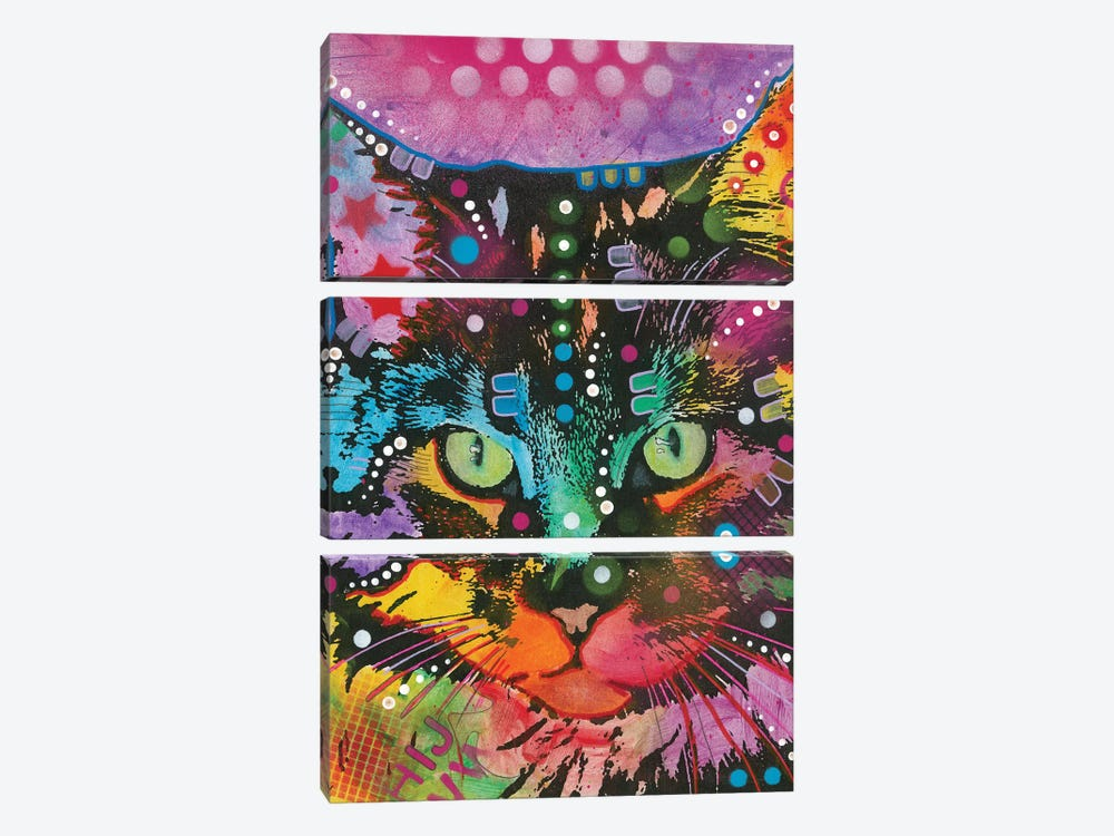Tabby II by Dean Russo 3-piece Canvas Print