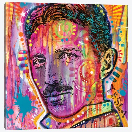 Tesla Canvas Print #DRO536} by Dean Russo Canvas Art