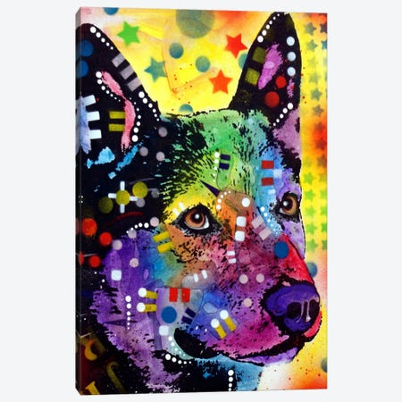 Aus Cattle Dog Canvas Print #DRO53} by Dean Russo Art Print