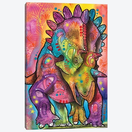 Triceratops Canvas Print #DRO551} by Dean Russo Canvas Print