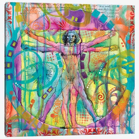 Vitruvian Man Canvas Print #DRO552} by Dean Russo Canvas Print