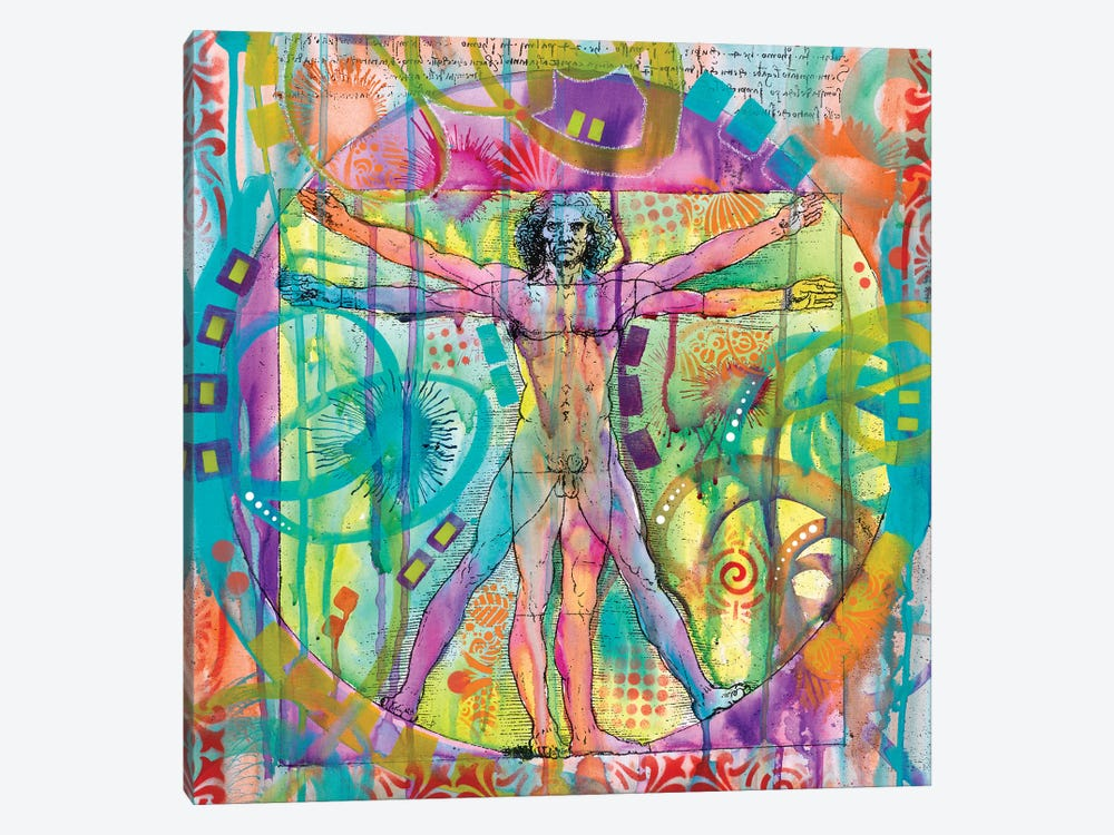 Vitruvian Man by Dean Russo 1-piece Canvas Wall Art