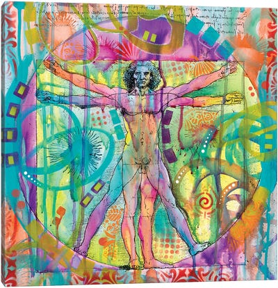 Vitruvian Man Canvas Art Print