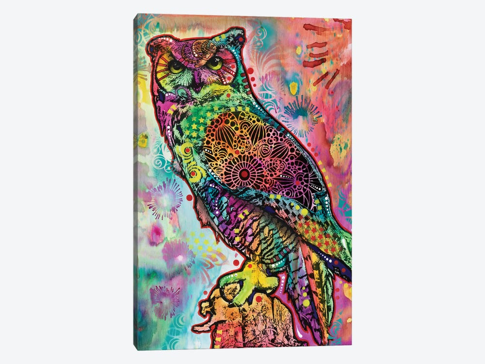 Wise Owl by Dean Russo 1-piece Canvas Art