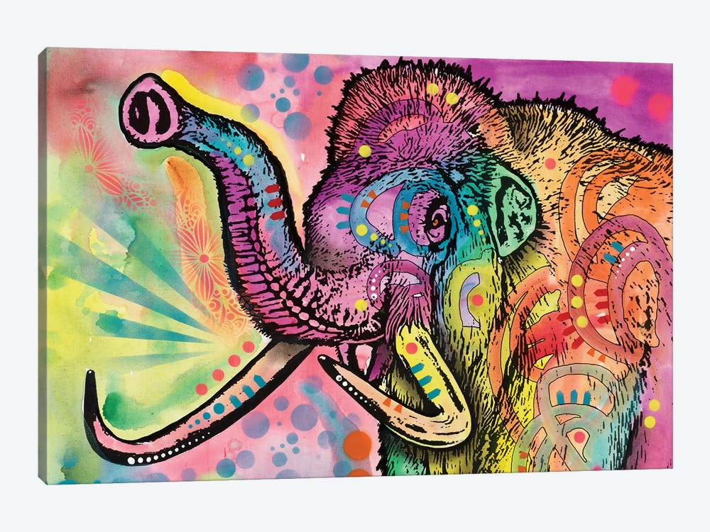 Woolly Mammoth by Dean Russo 1-piece Canvas Art Print