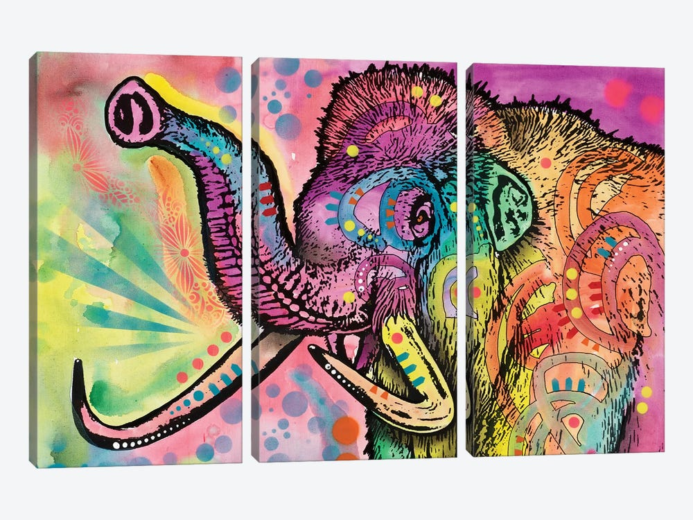 Woolly Mammoth by Dean Russo 3-piece Canvas Art Print