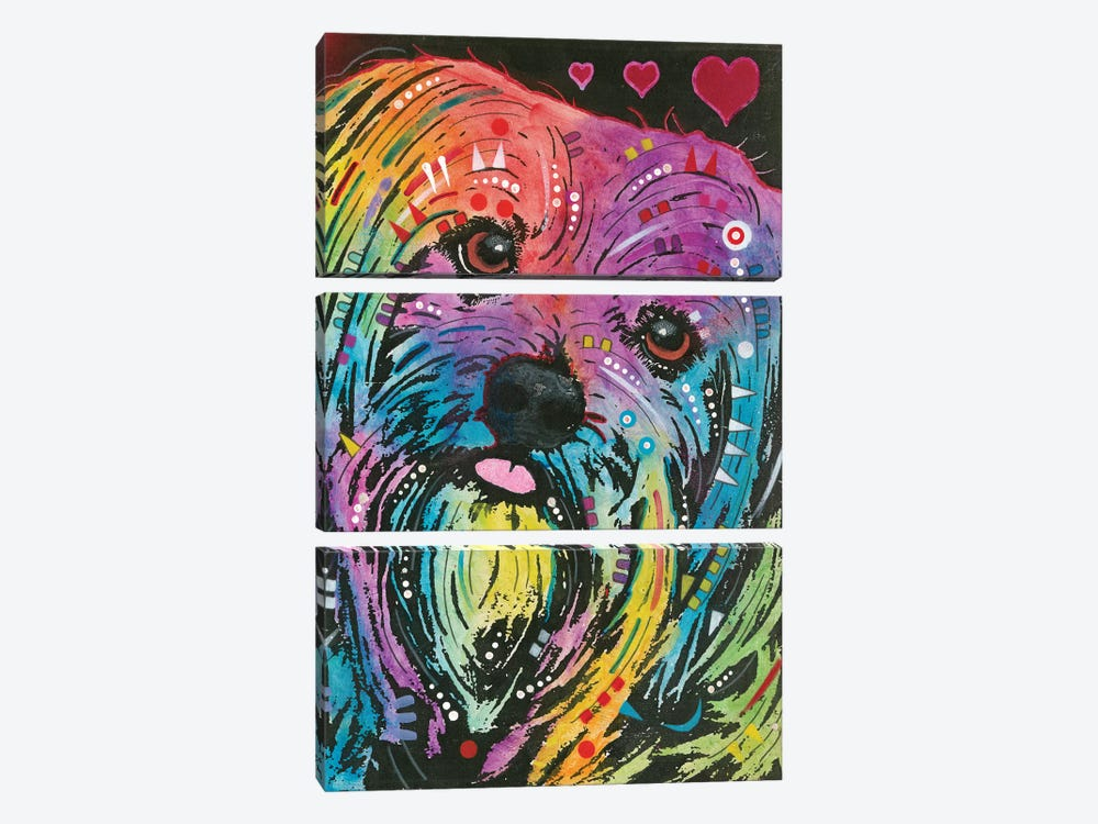 Yorkie by Dean Russo 3-piece Canvas Print