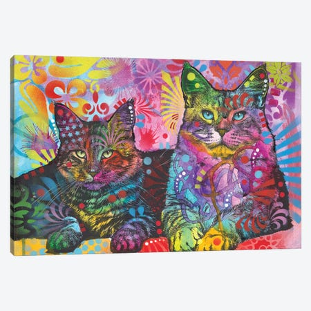 2 Cats Canvas Print #DRO563} by Dean Russo Canvas Wall Art