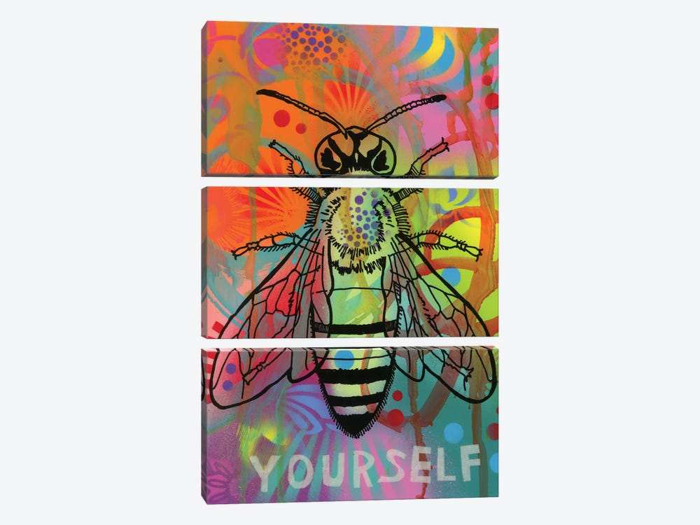 Bee Yourself by Dean Russo 3-piece Canvas Wall Art