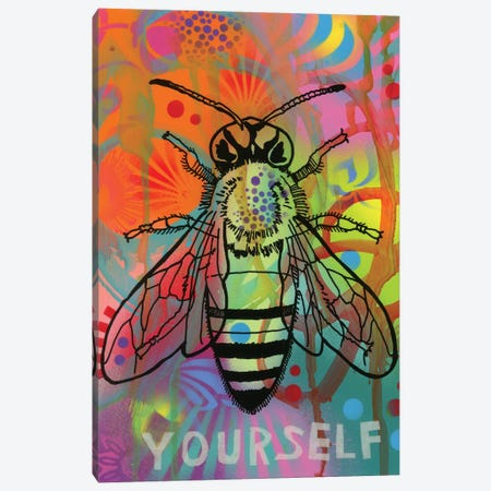 Bee Yourself Canvas Print #DRO567} by Dean Russo Art Print