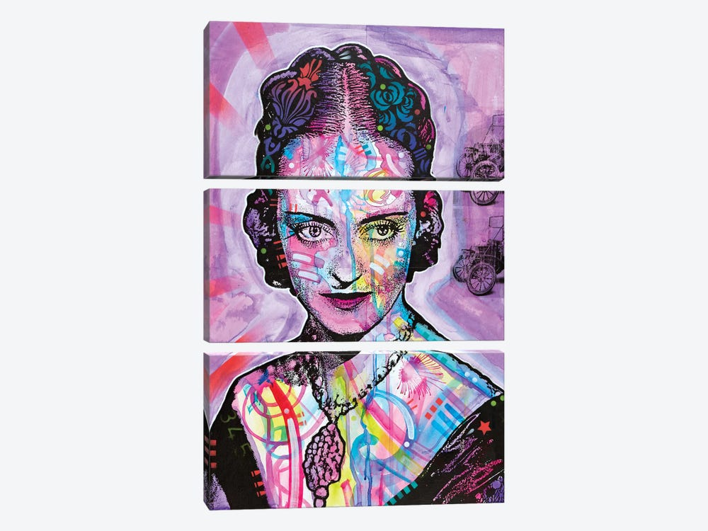 Bette Davis by Dean Russo 3-piece Canvas Art Print