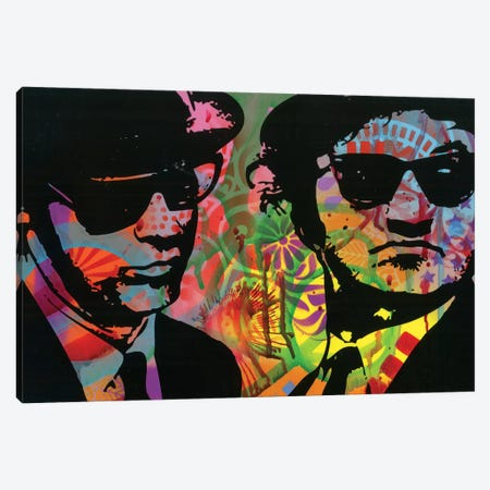 Blues Brothers Canvas Print #DRO569} by Dean Russo Canvas Artwork