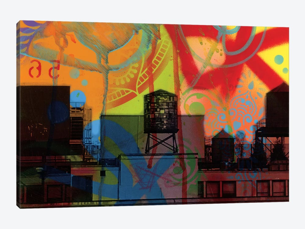 Brooklyn Watertower by Dean Russo 1-piece Canvas Artwork