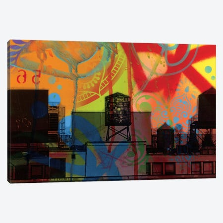 Brooklyn Watertower Canvas Print #DRO570} by Dean Russo Canvas Print