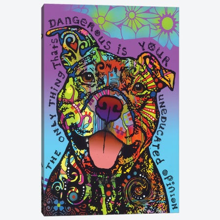 Dangerous Canvas Print #DRO573} by Dean Russo Canvas Art Print