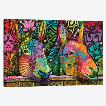 Donkeys Canvas Print #DRO574} by Dean Russo Canvas Art