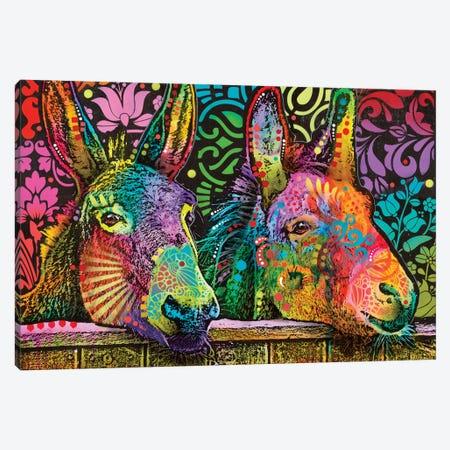 Donkeys Canvas Print #DRO574} by Dean Russo Canvas Art