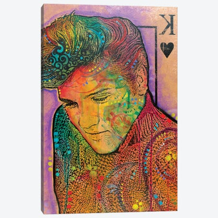 Elvis, King Of Hearts Canvas Print #DRO575} by Dean Russo Canvas Art