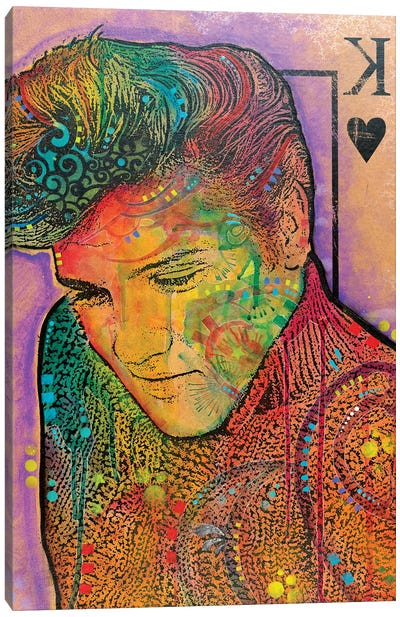 Elvis, King Of Hearts Canvas Art Print