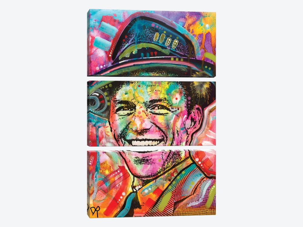 Frank Sinatra I by Dean Russo 3-piece Canvas Print