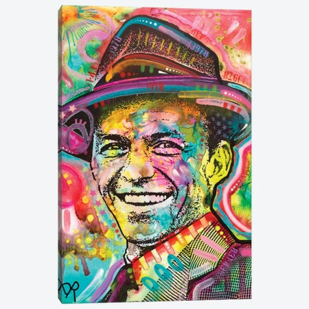 Frank Sinatra IV Canvas Print #DRO582} by Dean Russo Canvas Wall Art