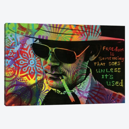Freedom Is Something That Dies Unless It's Used Canvas Print #DRO583} by Dean Russo Canvas Art