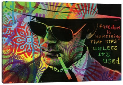 Freedom Is Something That Dies Unless It's Used Canvas Art Print