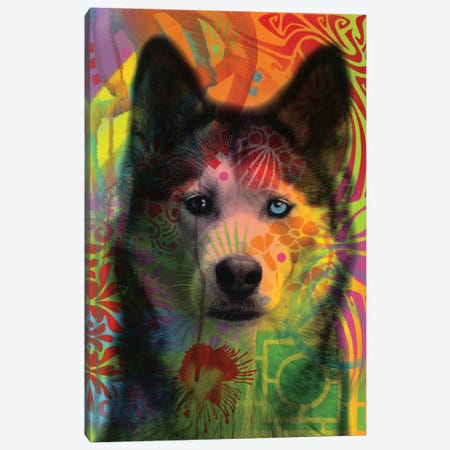 Husky's Eye Canvas Print #DRO586} by Dean Russo Art Print