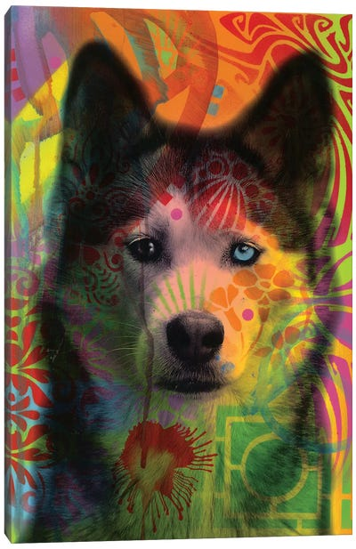 Husky's Eye Canvas Art Print