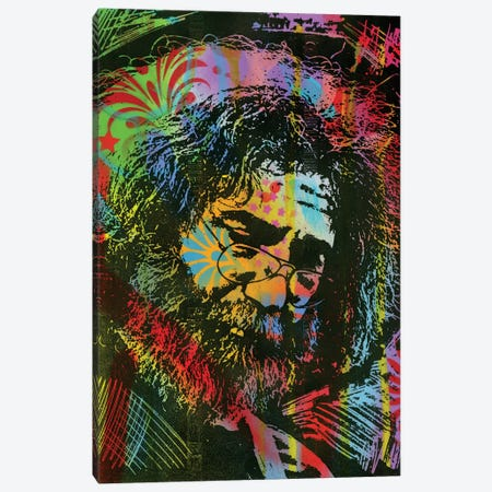 Jerry Garcia Playing Canvas Print #DRO590} by Dean Russo Canvas Art Print