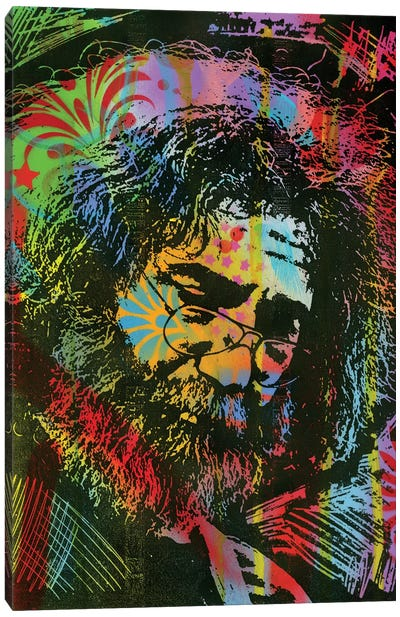Jerry Garcia Playing Canvas Art Print