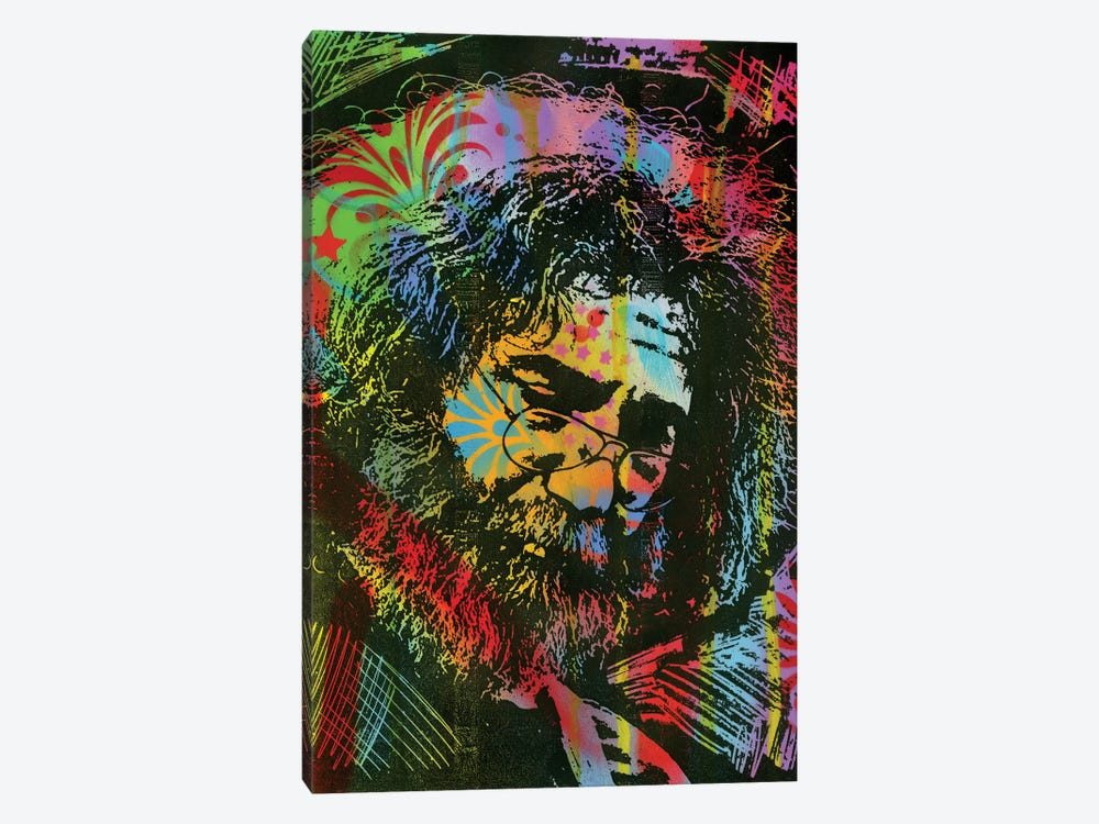 Jerry Garcia Playing by Dean Russo 1-piece Canvas Art