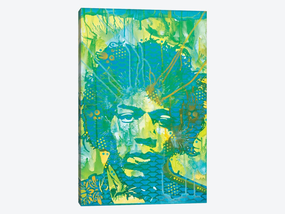 Jimi Hendrix V by Dean Russo 1-piece Canvas Art
