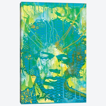 Jimi Hendrix V Canvas Print #DRO592} by Dean Russo Art Print