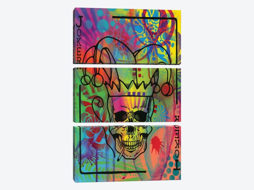 Joker's Wild by Dean Russo 3-piece Canvas Artwork