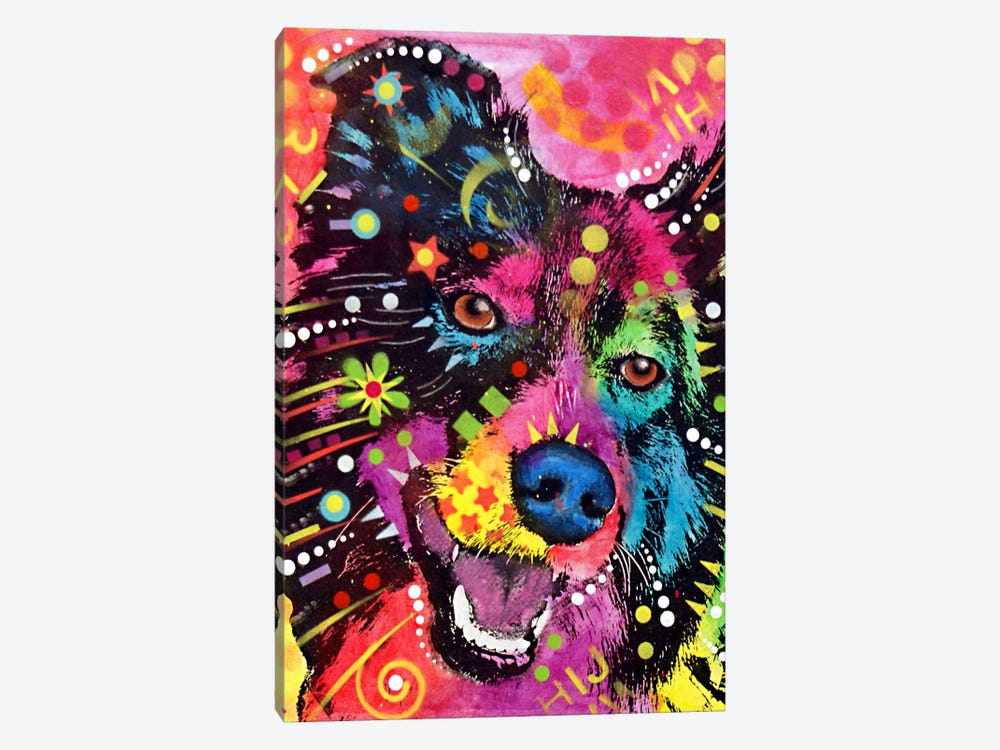 Border Collie by Dean Russo 1-piece Art Print