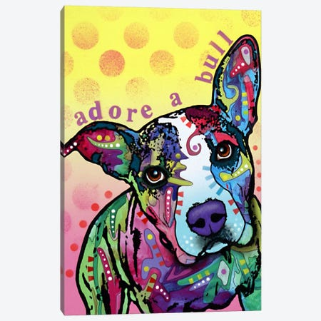 Adoreabull Canvas Print #DRO5} by Dean Russo Canvas Art