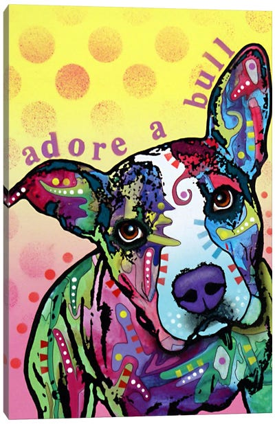 Adoreabull Canvas Art Print