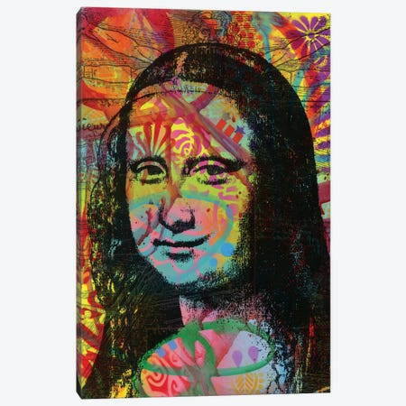 Mona's Portrait Canvas Print #DRO600} by Dean Russo Art Print