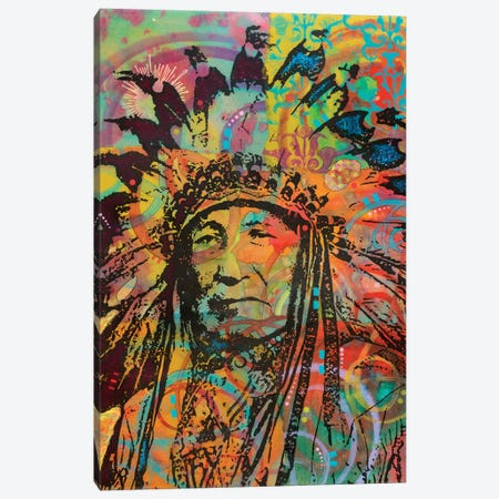 Native American V Canvas Print #DRO605} by Dean Russo Canvas Wall Art