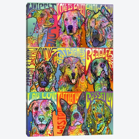 Nine Up Of Dogs Canvas Print #DRO607} by Dean Russo Canvas Art