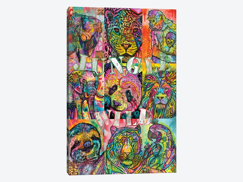 Nine Up Of Jungle Wild by Dean Russo 1-piece Canvas Print