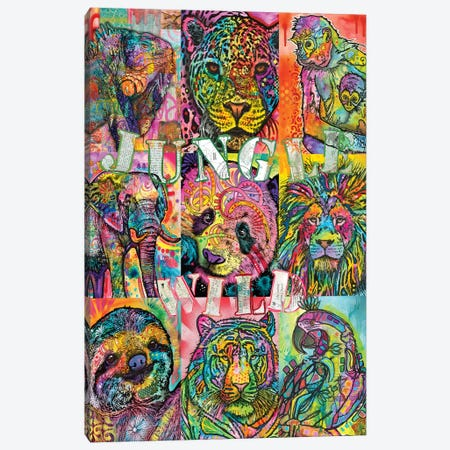 Nine Up Of Jungle Wild Canvas Print #DRO608} by Dean Russo Art Print