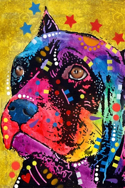 Double Sided /& Chrome Finish Features The Pop Art of Dean Russo Enjoy It Rottweiler Keychain